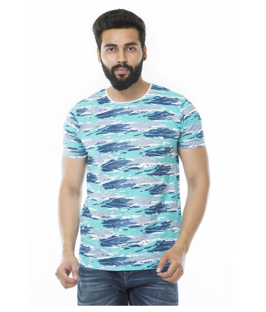 Drastic Blue Half Sleeve T-Shirt
