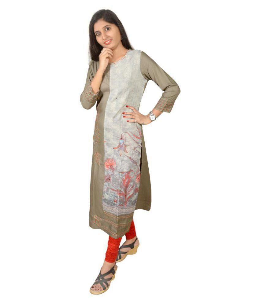 Shubh Fashion Multicoloured Rayon Straight Kurti