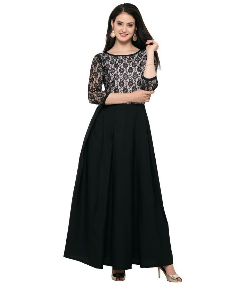 b51ecb00d3a4 Fashion2wear Net Black Fit And Flare Dress - Buy Fashion2wear Net Black Fit  And Flare Dress Online at Best Prices in India on Snapdeal