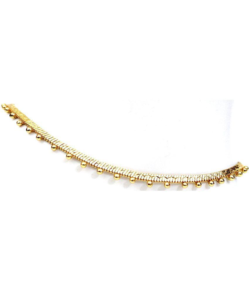 VSASA's Unique Stylish Sleek Gold Plated Anklets