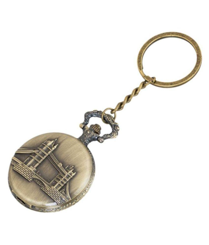 Americ Style Tower Bridge London Theme Beautiful Designer Pocket Watch Vintage Clock Birthday Gift For Friend Metallic Keyring Key Chain Buy Online At Low