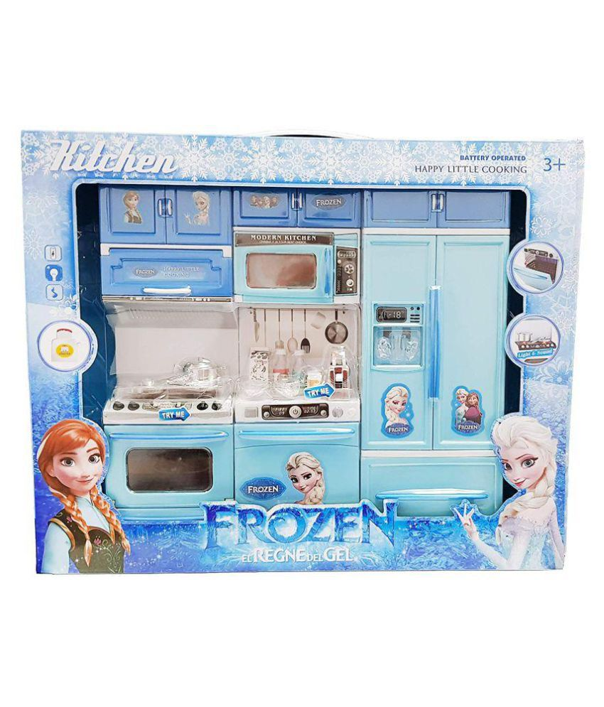 New toy chehar enterprise frozen kitchen play set with refrigerator accessories fruits