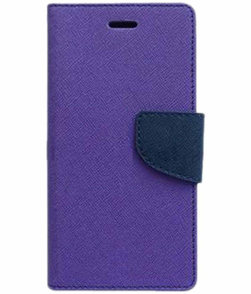 Samsung Galaxy On5 Flip Cover by Kosher Traders - Purple Premium Mercury