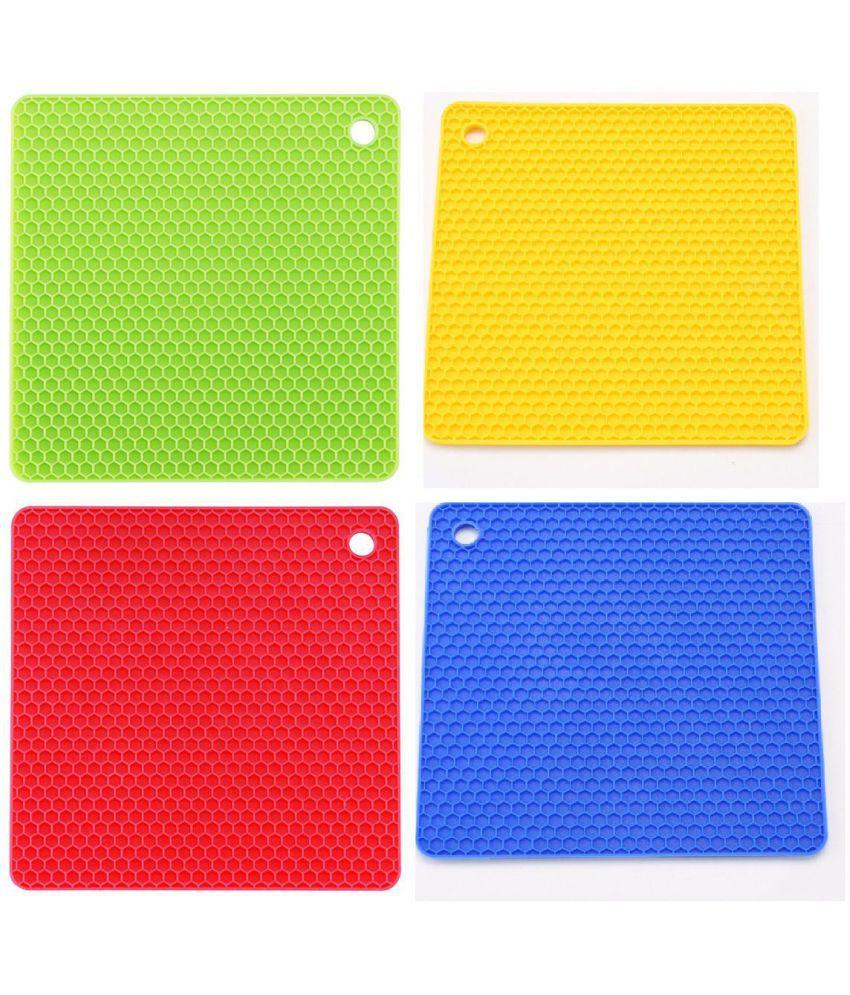 Silicone table mat Square Shape 4 PCS  Mat