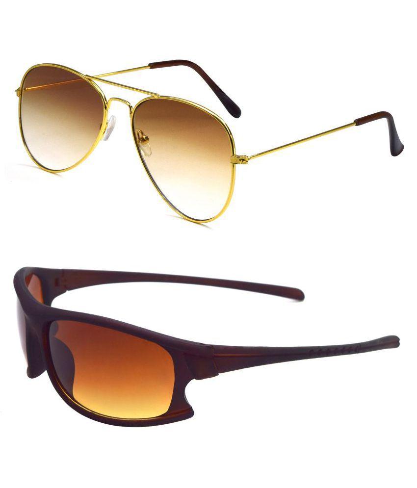 ocnik Multicolor Aviator Sunglasses ( Ocnik412-1106 )
