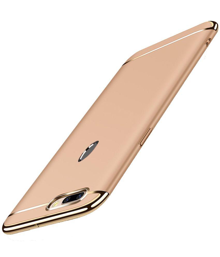 Oppo F9 Pro Plain Cases Sedoka - Golden