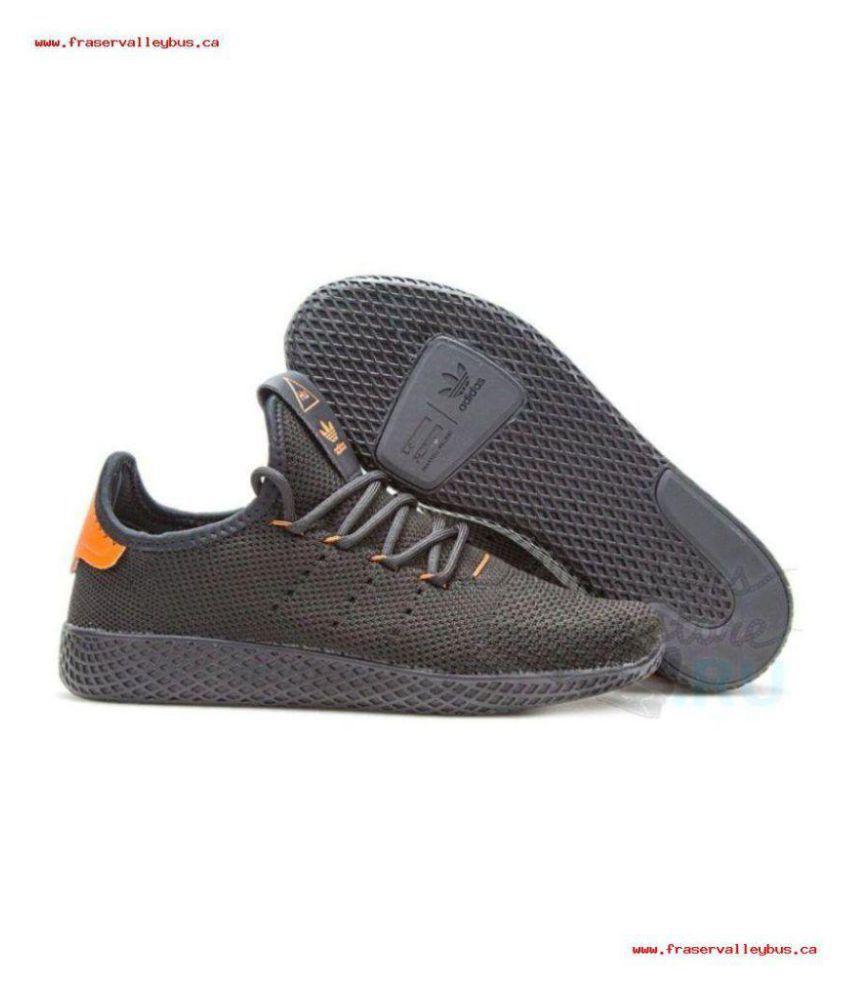 Adidas PHARRELL WILLIAMS TENNIS HU Black Training Shoes