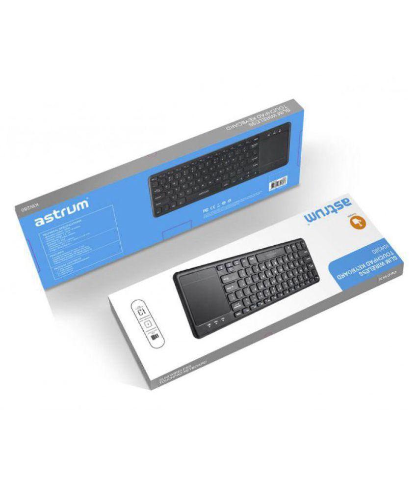 astrum kw280 touchpad keyboard black wireless desktop keyboard buy rh snapdeal com