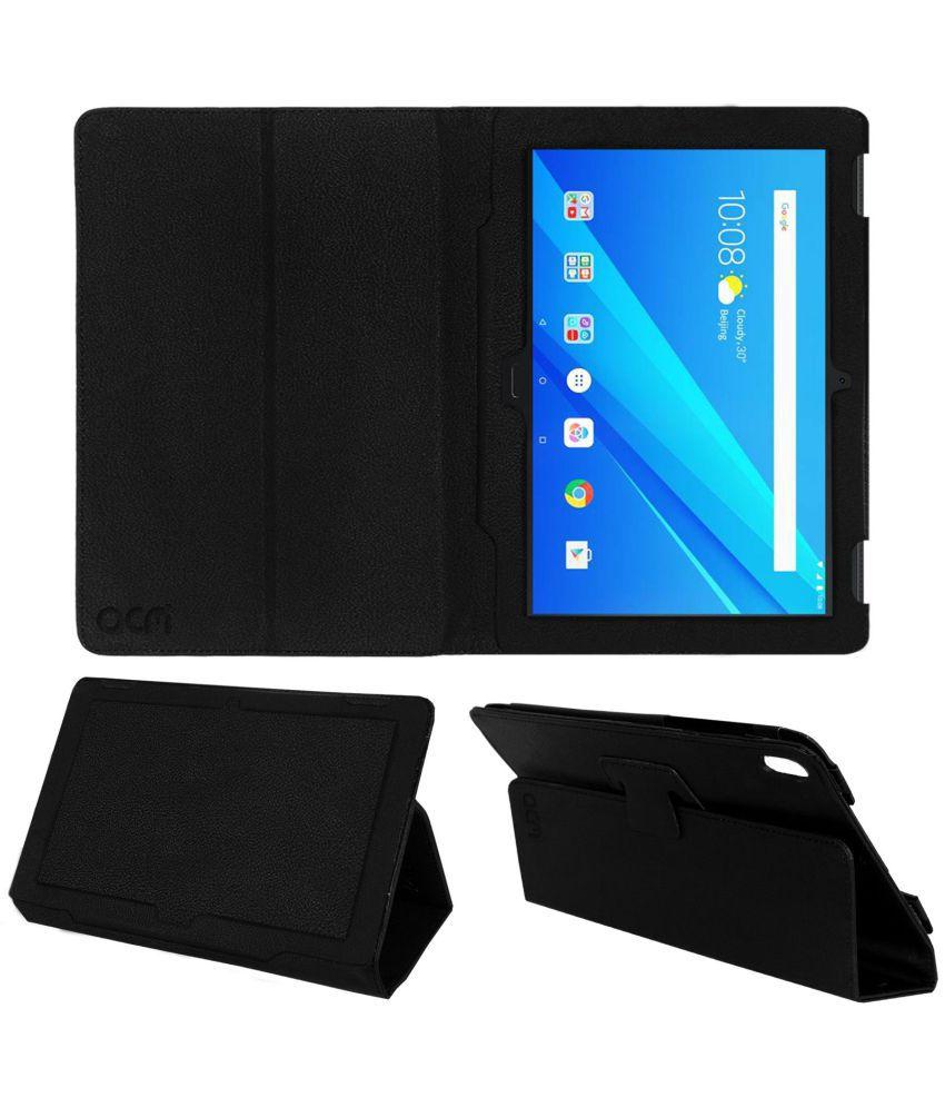 finest selection 6dca3 21130 Lenovo Tab 4 10 Plus Flip Cover By ACM Black
