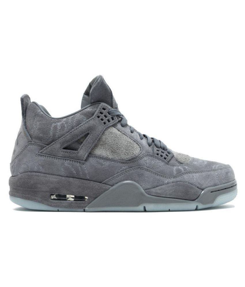 e811b0573 Nike jordan retro 4 kaws Grey Running Shoes - Buy Nike jordan retro 4 kaws  Grey Running Shoes Online at Best Prices in India on Snapdeal