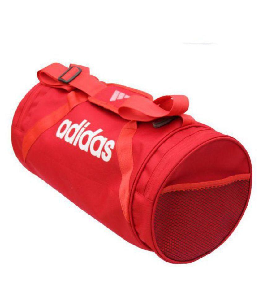 490303cb7e59 Adidas Medium Red Nylon Gym Bag Travel Duffle - Buy Adidas Medium ...