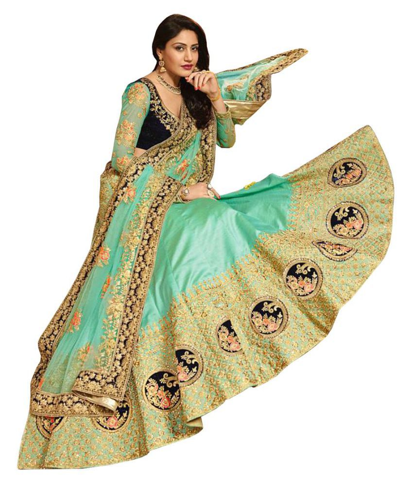 72a3d63a64 Isha Enterprise Green Silk Circular Semi Stitched Lehenga - Buy Isha  Enterprise Green Silk Circular Semi Stitched Lehenga Online at Best Prices  in India on ...