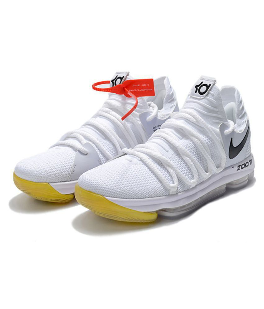 check out d9a99 69c3e ... Nike Air Max KD 10 LTD White Basketball Shoes ...