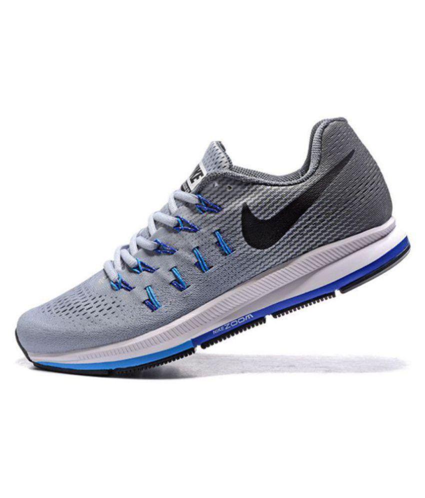738c9a6437ce Nike Zoom Pegasus 33 Grey Running Shoes - Buy Nike Zoom Pegasus 33 ...