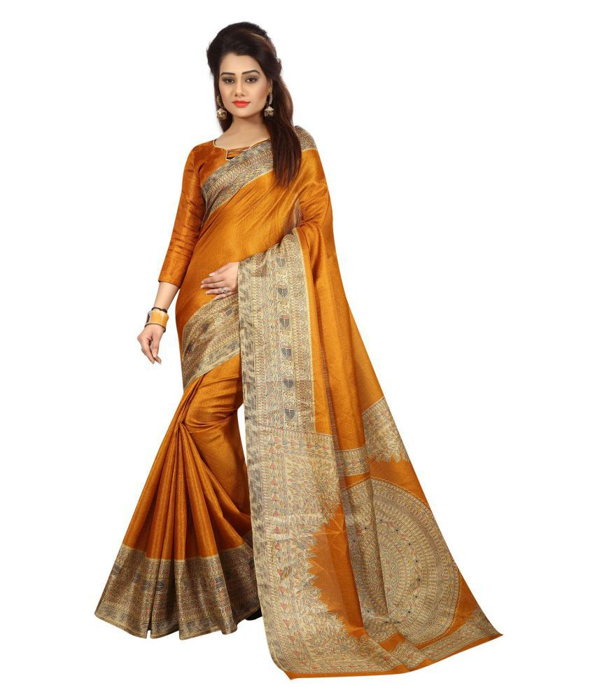 Samaya Mustard Silk Saree