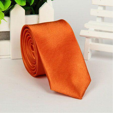 Kamalife Orange Printed Polyester Necktie