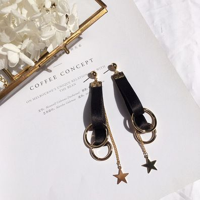 Levaso Fashion Jewelry Womens Earrings Ear Studs Silk 1Pair Personality Gifts White
