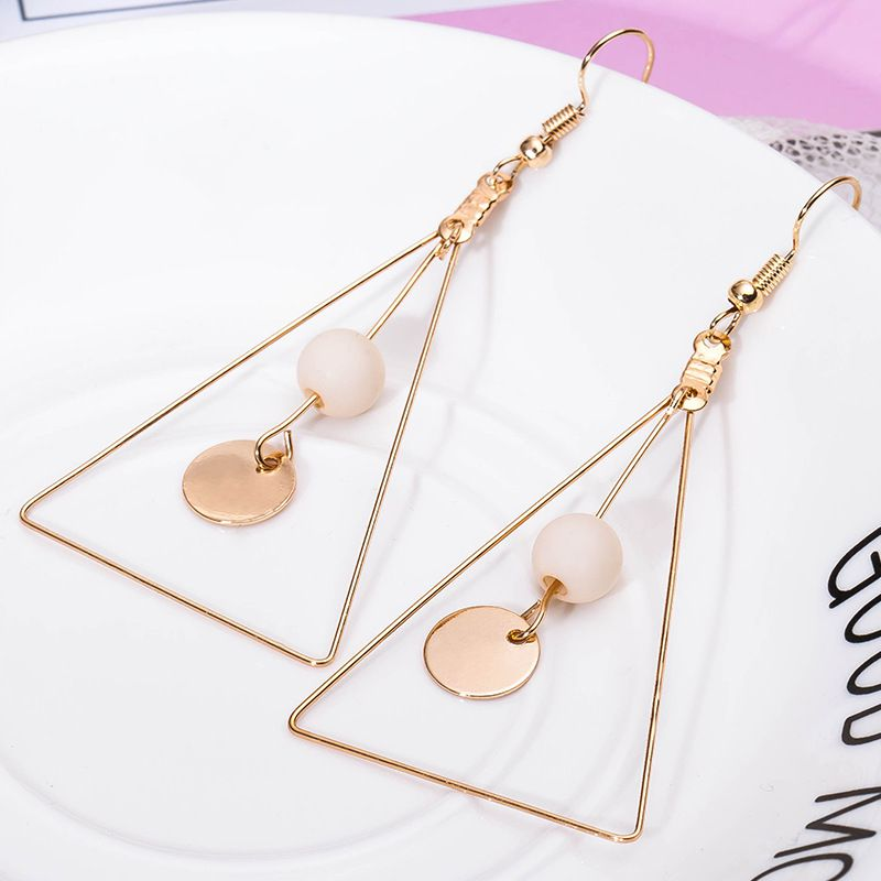 Levaso Fashion Jewelry Womens Earrings Ear Studs Copper Geometric 1Pair Personality Gifts White