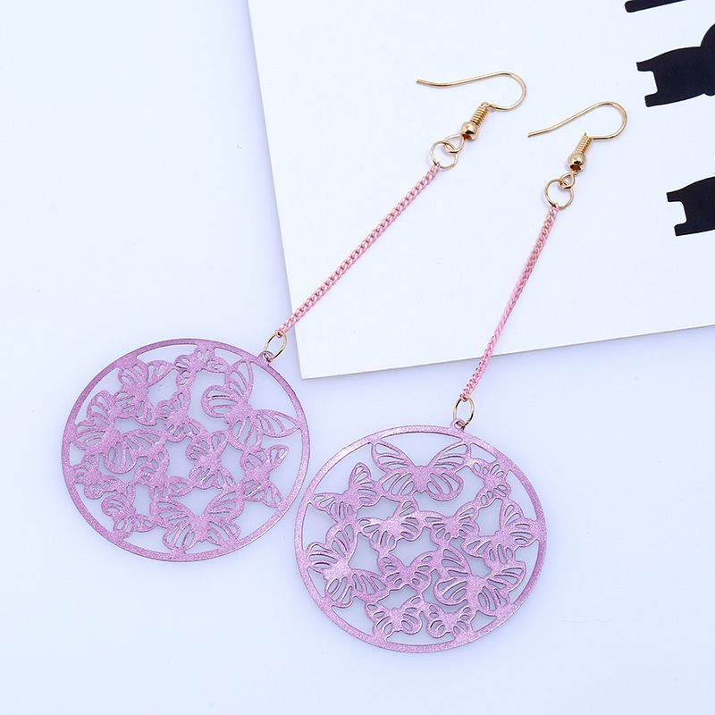 Levaso Fashion Jewelry Womens Earrings Ear Studs Alloy Geometric 1Pair Personality Gifts Purple