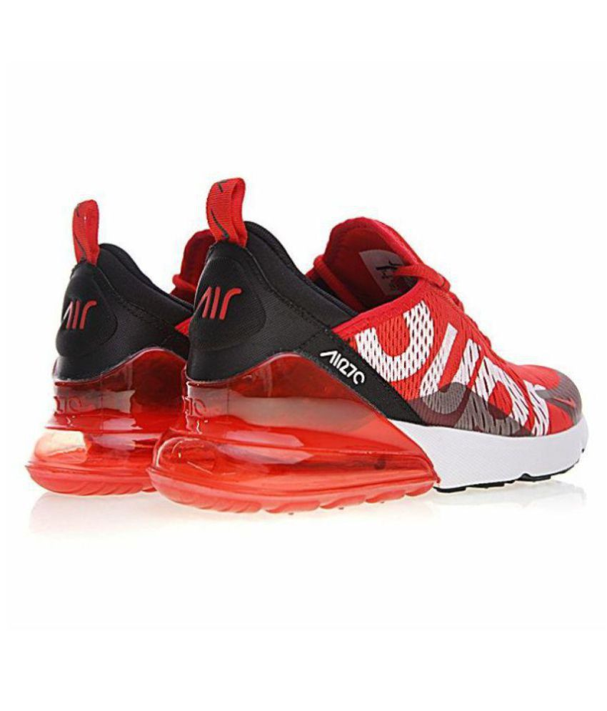 wholesale dealer 00a84 8508e ... Nike Air Max 270 Supreme Edition Red Running Shoes ...