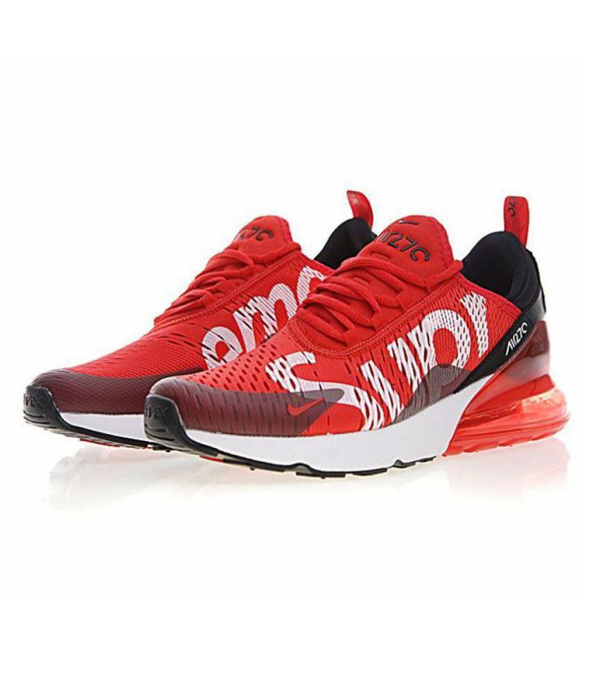 size 40 85422 26c6a Nike Air Max 270 Supreme Red Running Shoes