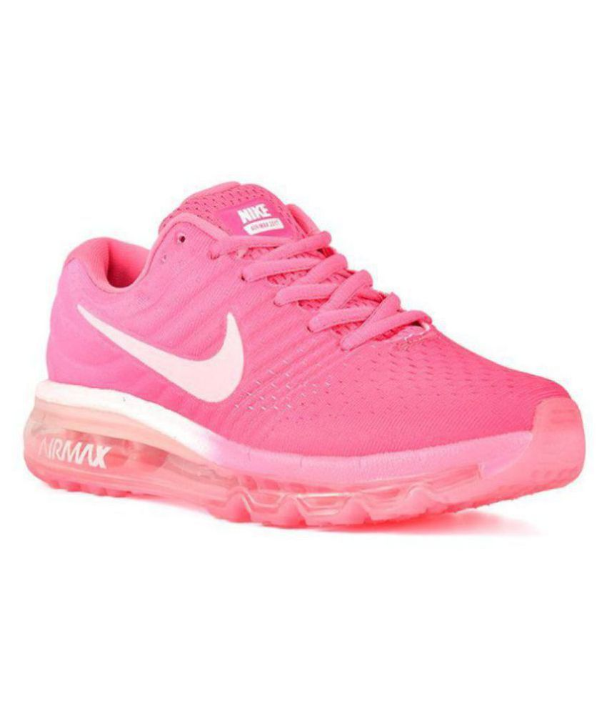 new arrival b76b6 cafa0 Nike Air Max 2017 Pink Womens Running Shoes