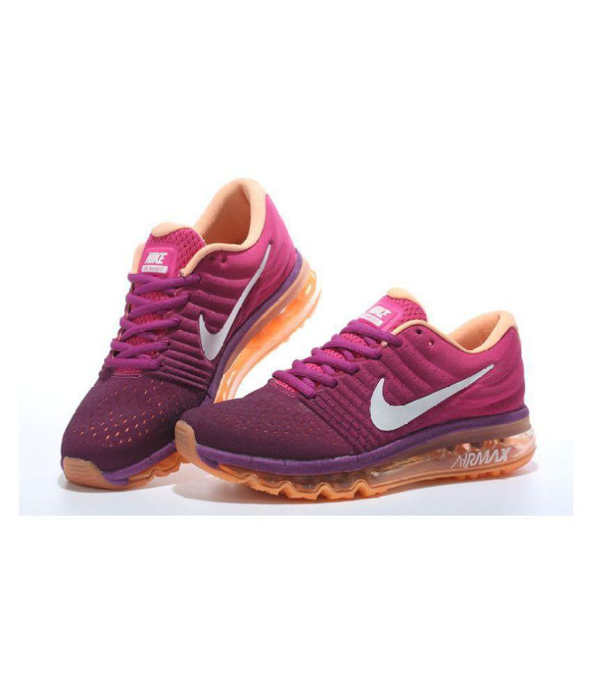 1812d4b1387 Nike Air Max 2017 Purple Womens Running Shoes Price in India- Buy Nike Air  Max 2017 Purple Womens Running Shoes Online at Snapdeal