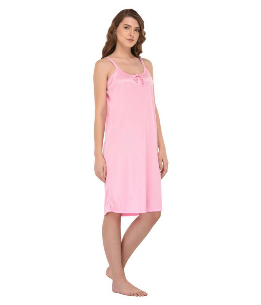 edd2edd6dc Buy You Forever Satin Nighty   Night Gowns - Pink Online at Best ...