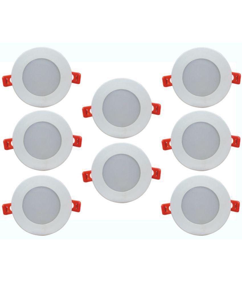 Bene 6W Round Ceiling Light 10.5 cms. - Pack of 8