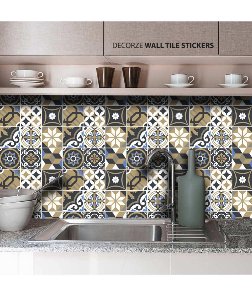 Decorze Modern Kitchen Tiles Stickers Floral Sticker 7 X 7 Cms Buy Decorze Modern Kitchen Tiles Stickers Floral Sticker 7 X 7 Cms Online At Best Prices In India On Snapdeal