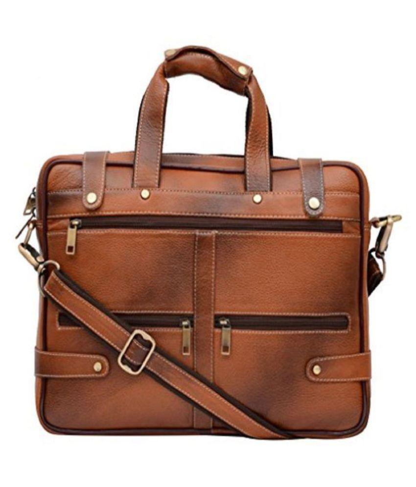 JIBREEL TRADER JT-2029_Zebra Brown Leather Office Bag
