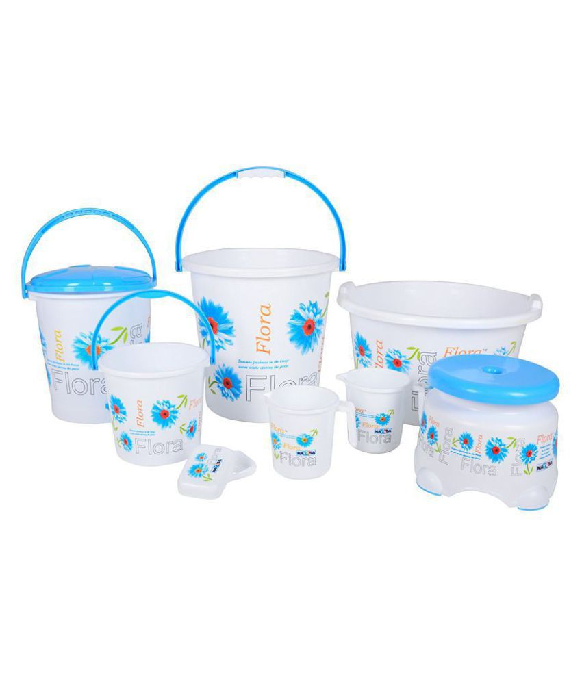Nayasa Plastic Bathroom Bucket Set: Buy Nayasa Plastic ...