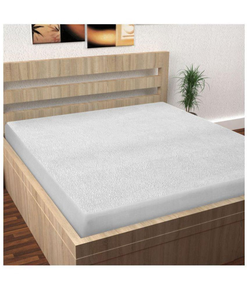 Story@Home MPR1203 White Cotton Mattress Protector