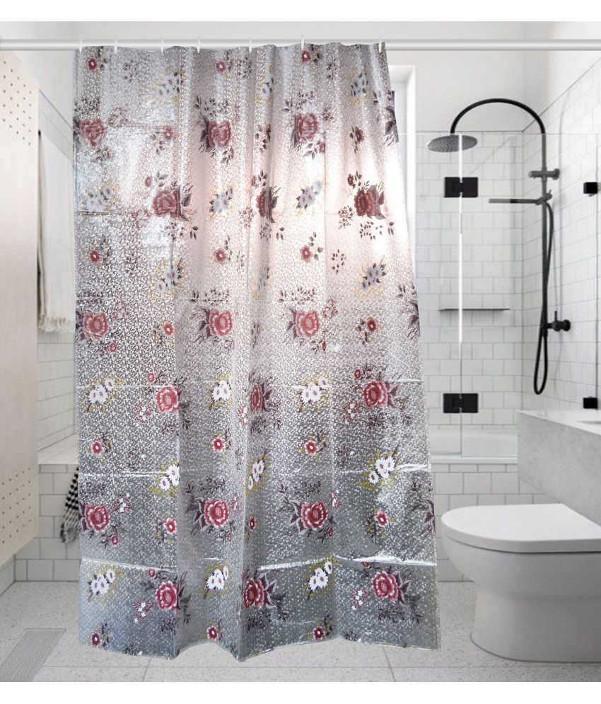 Khushi Creations Single Shower Curtain Multi Others