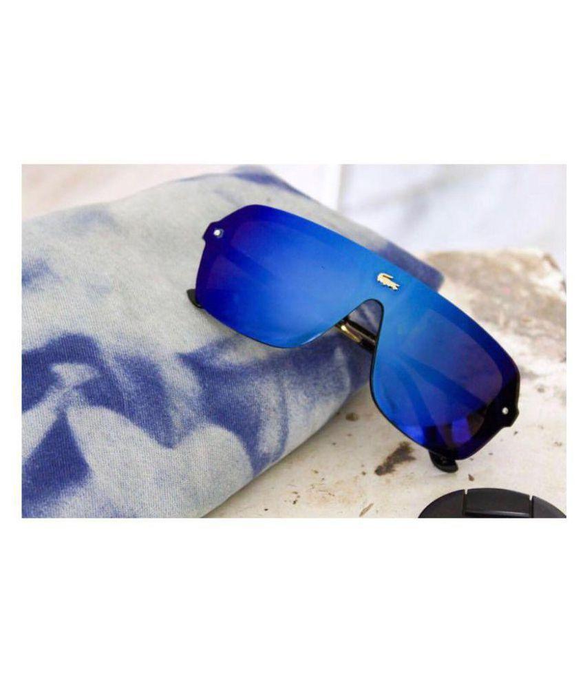 8d27905832a69 LACOSTE SUNGLSS Blue Aviator Sunglasses ( L129 ) - Buy LACOSTE ...