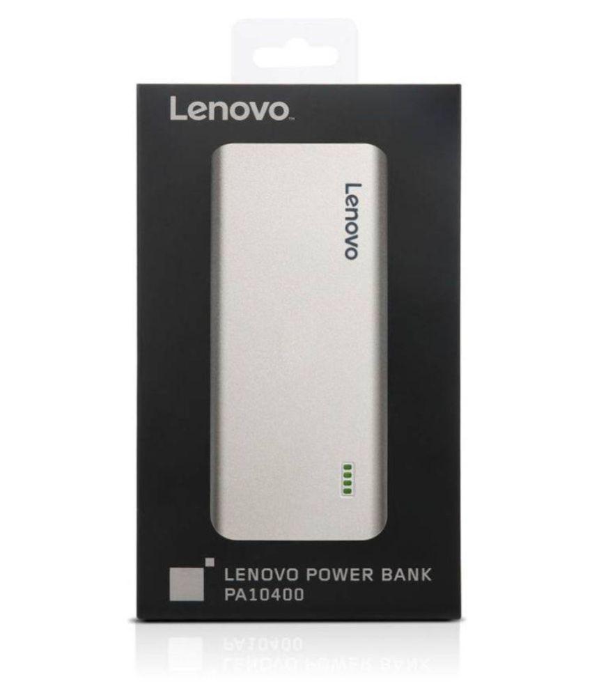 Lenovo Pa10400 10400 Mah Li Ion Power Bank Silver Power Banks
