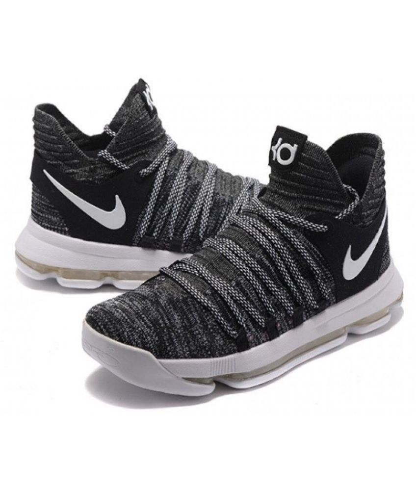 best cheap ea543 7aca8 Nike KD 10 Basketball Shoes Black Running Shoes - Buy Nike KD 10 Basketball  Shoes Black Running Shoes Online at Best Prices in India on Snapdeal
