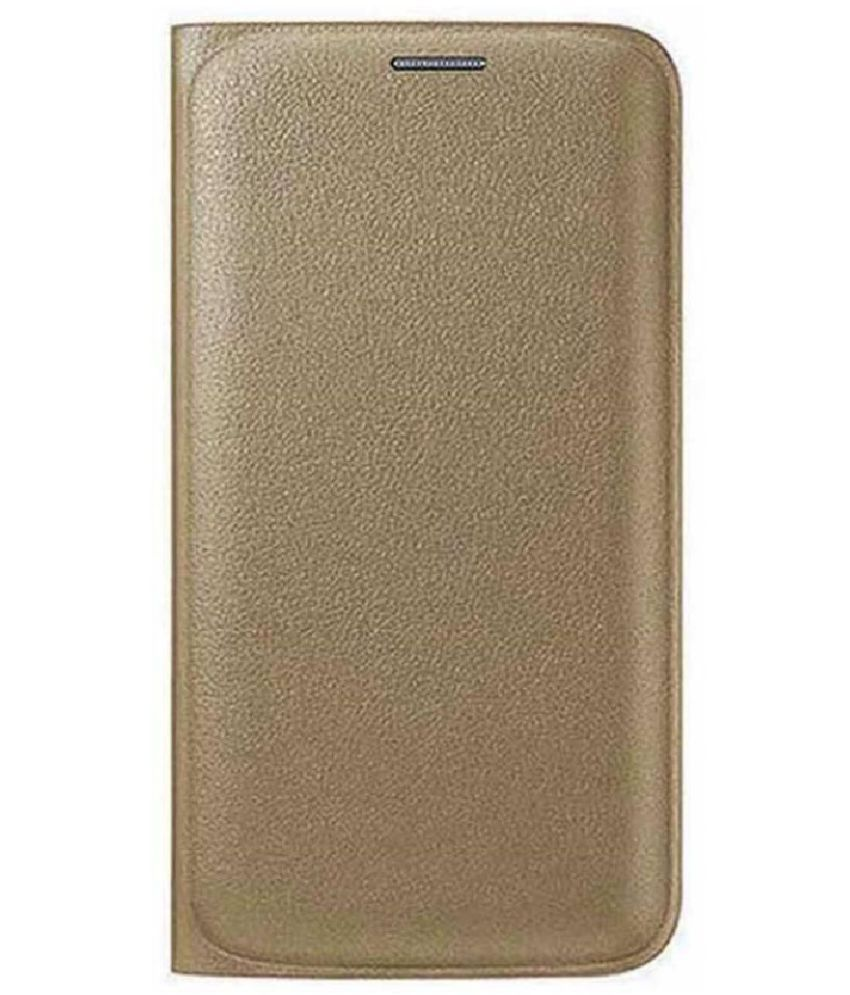 Vivo Y83 Flip Cover by CrackerDeal - Golden