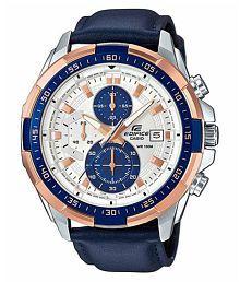 Casio Edifice Blue EFR-539L-7CVUDF (EX306) Leather Chronograph Men's Watch