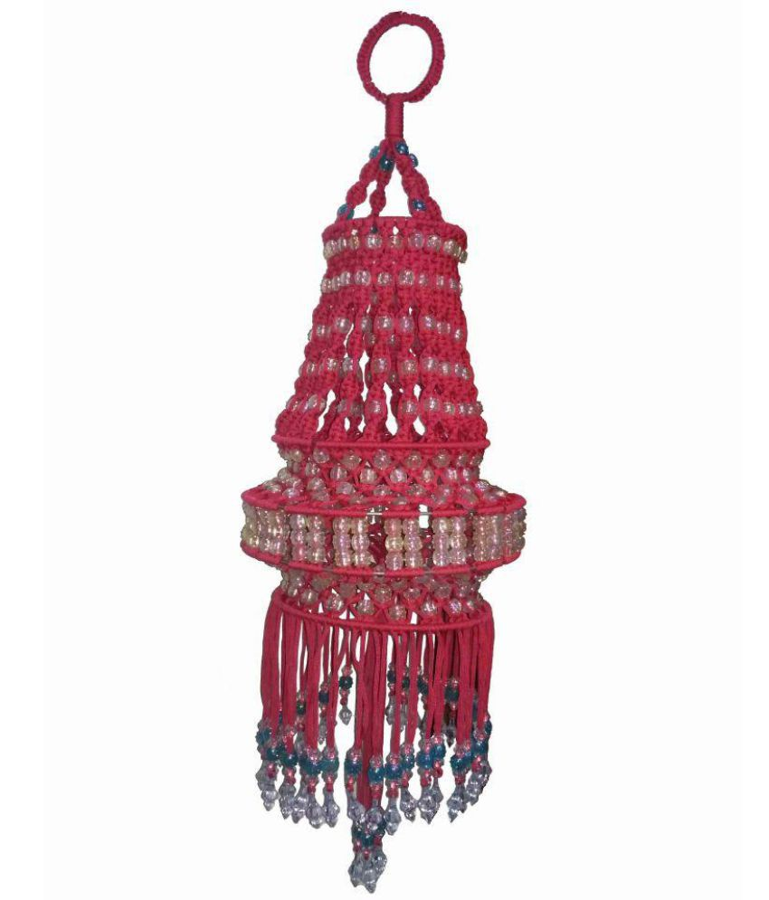 Macrame House Jhumarred Decorative Tapestry Rope Red Pack Of 1
