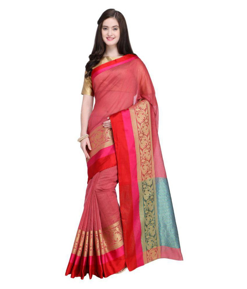 9b63ffc2e4 Shaily Retails Red and Pink Silk Saree - Buy Shaily Retails Red and Pink  Silk Saree Online at Low Price - Snapdeal.com
