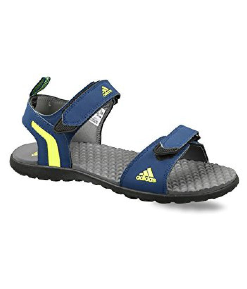105683b6553d Adidas Mobe Blue Faux Leather Sandals Price in India- Buy Adidas Mobe Blue  Faux Leather Sandals Online at Snapdeal