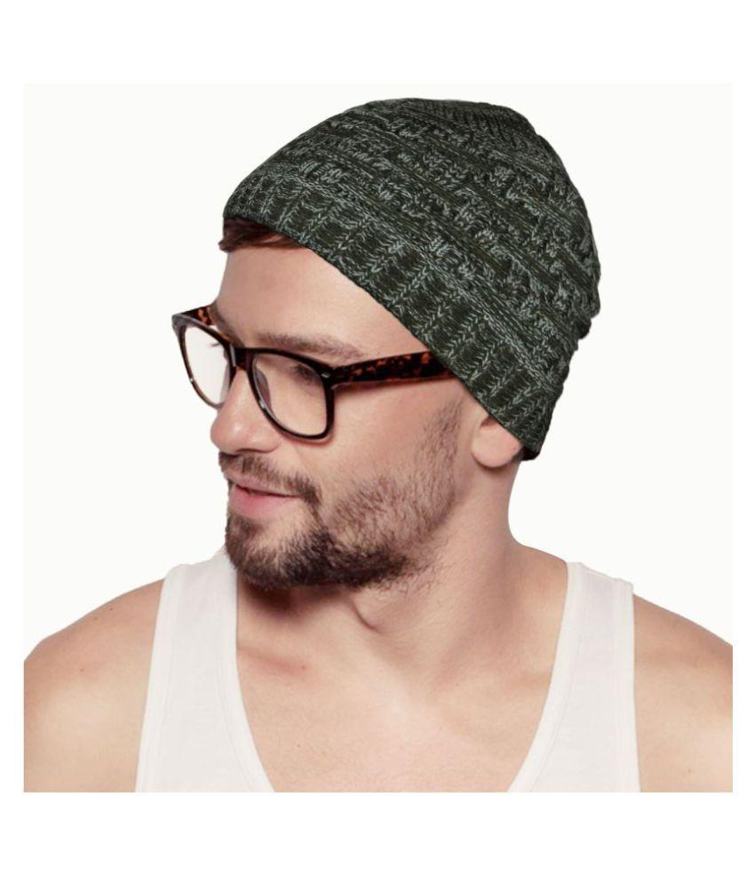 Hupshy Green Wool Caps