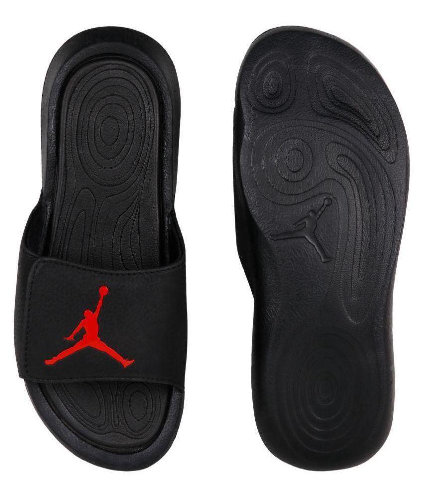 newest collection c4be8 c15cf Nike JORDAN HYDRO 6 Black Slide Flip flop