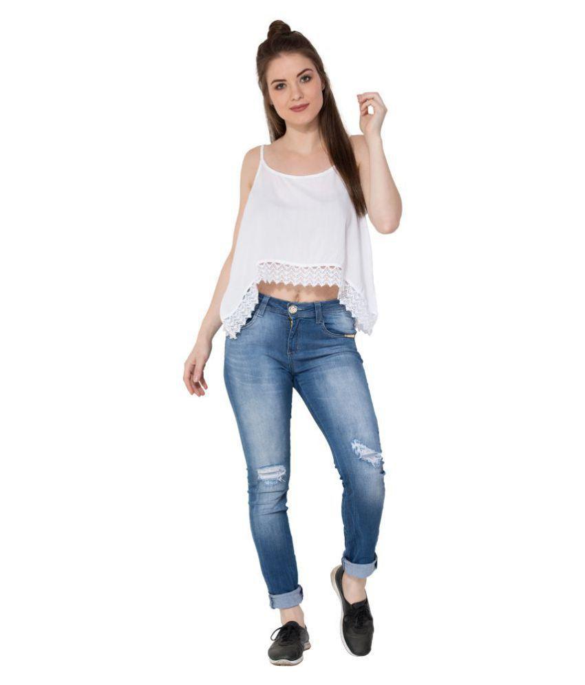101f04222e39 Secret Bazaar Rayon Crop Tops - White - Buy Secret Bazaar Rayon Crop ...