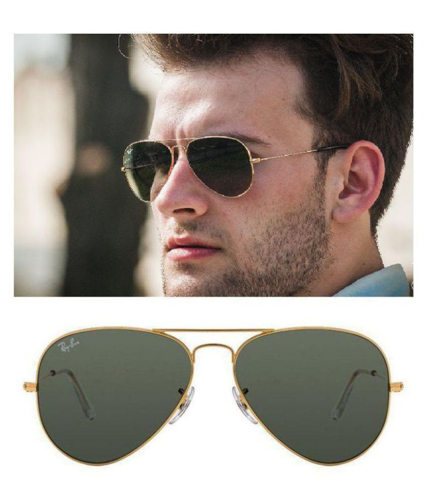 Ray Ban Avaitor Black Aviator Sunglasses Rb 3025 56 14