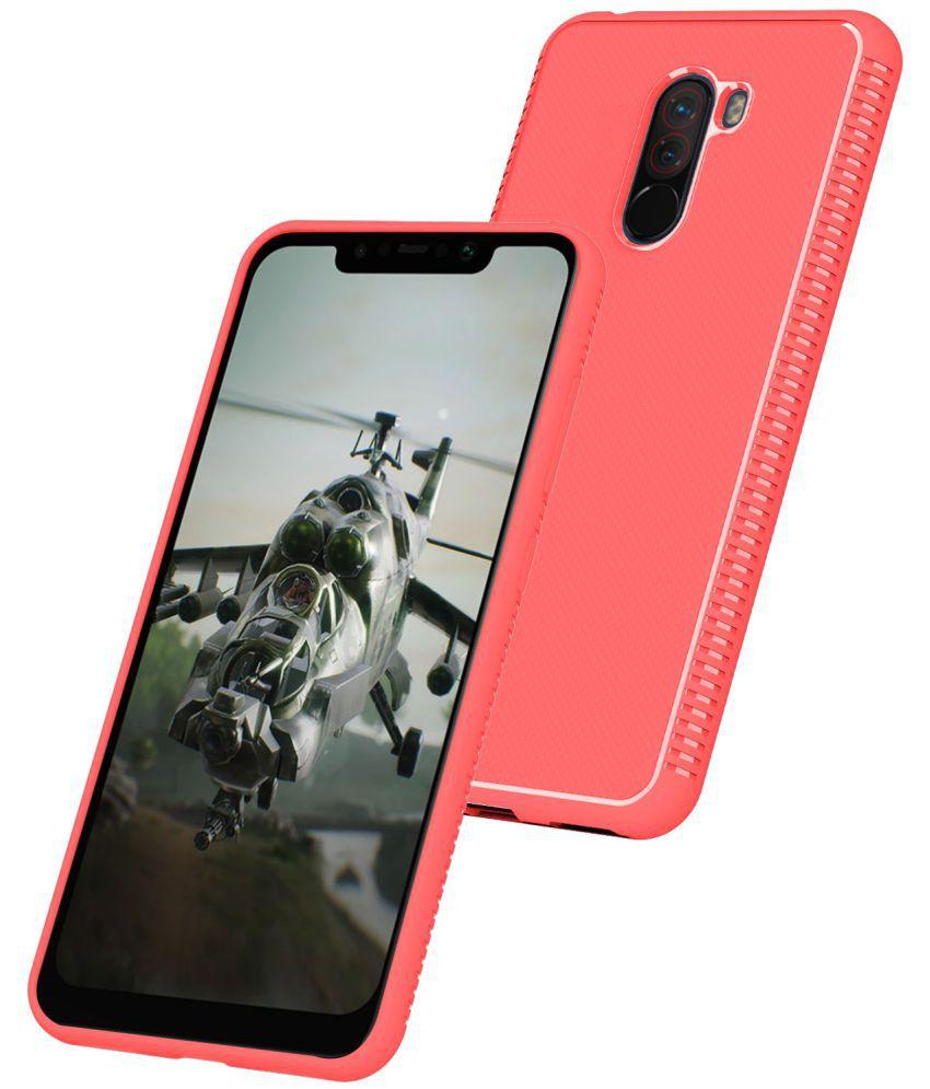the latest 30377 87c61 Xiaomi Redmi Poco F1 Plain Cases CareFone - Red