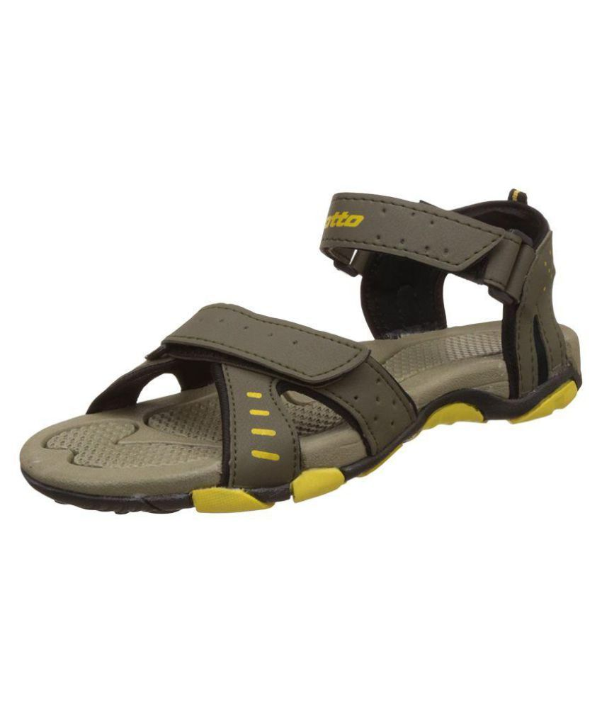 60dcf38b0 Lotto Men s Olive Synthetic Floater Sandals - Buy Lotto Men s Olive  Synthetic Floater Sandals Online at Best Prices in India on Snapdeal