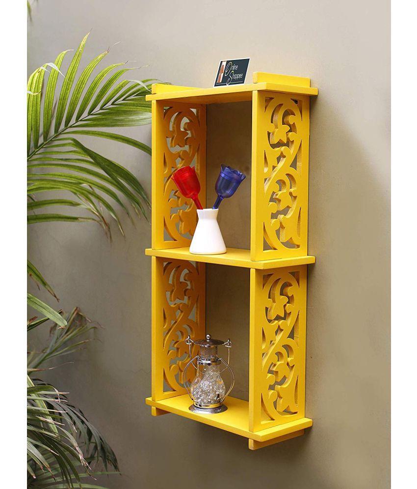 Onlineshoppee Floating Shelves Yellow MDF - Pack of 1