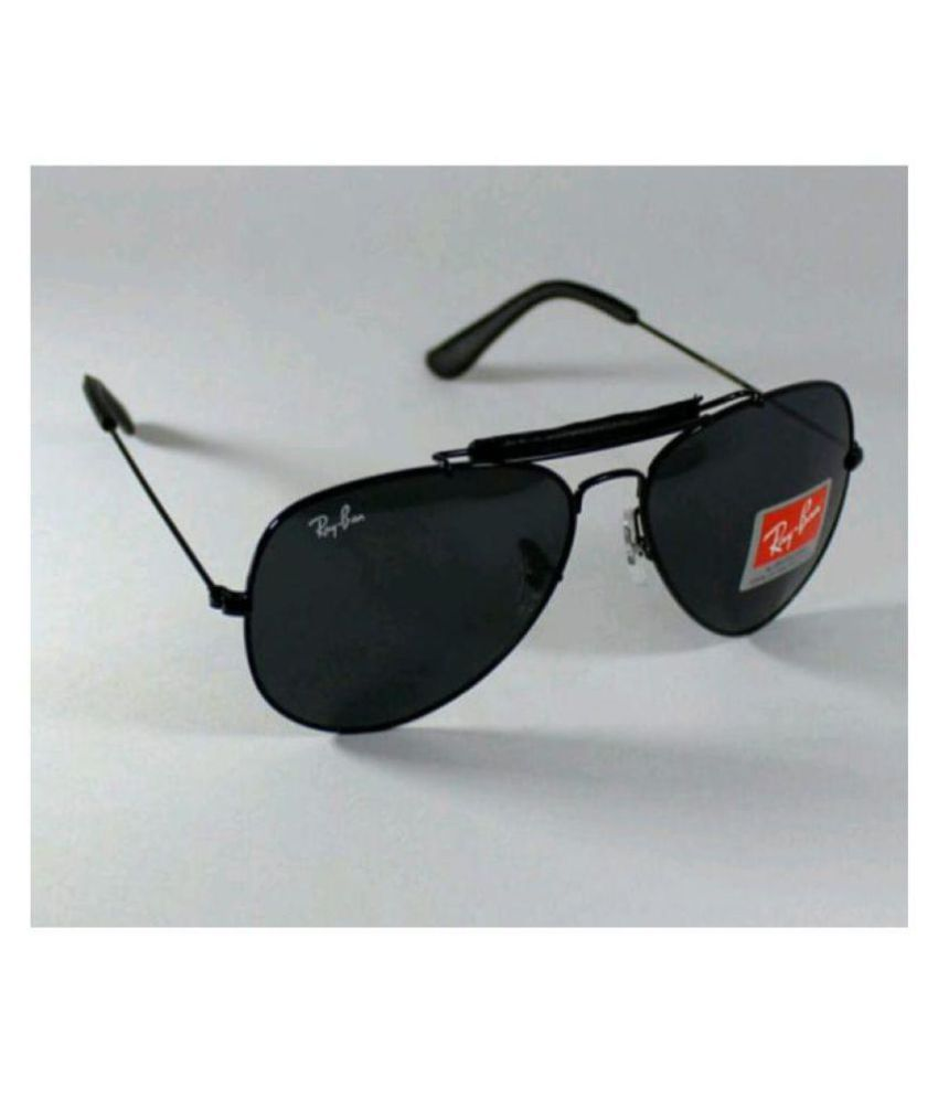 c351b68ce Ray Ban Avaitor Black Aviator Sunglasses ( sss15 ) - Buy Ray Ban Avaitor Black  Aviator Sunglasses ( sss15 ) Online at Low Price - Snapdeal